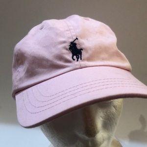 Polo Ralph Lauren pink adjustable hat Pony Logo